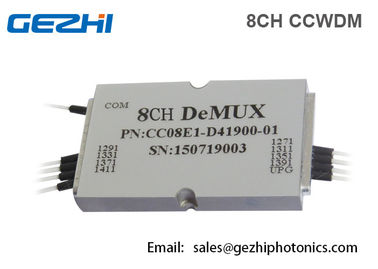 China Mini CWDM Mux Demux módulo pequeno de CCWDM do Multiplexer 8 do canal ótico distribuidor